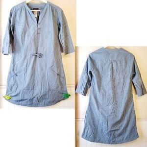 Patagonia | blue striped dress w/ drawstring